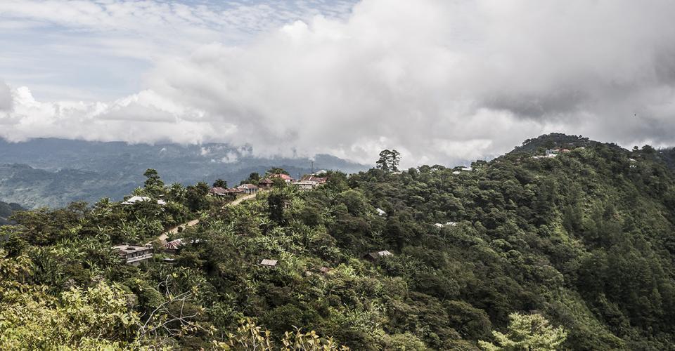 La aldea Txosunil fue el centro de votación para los participantes más alejados del Municipio de Santa Eulalia.