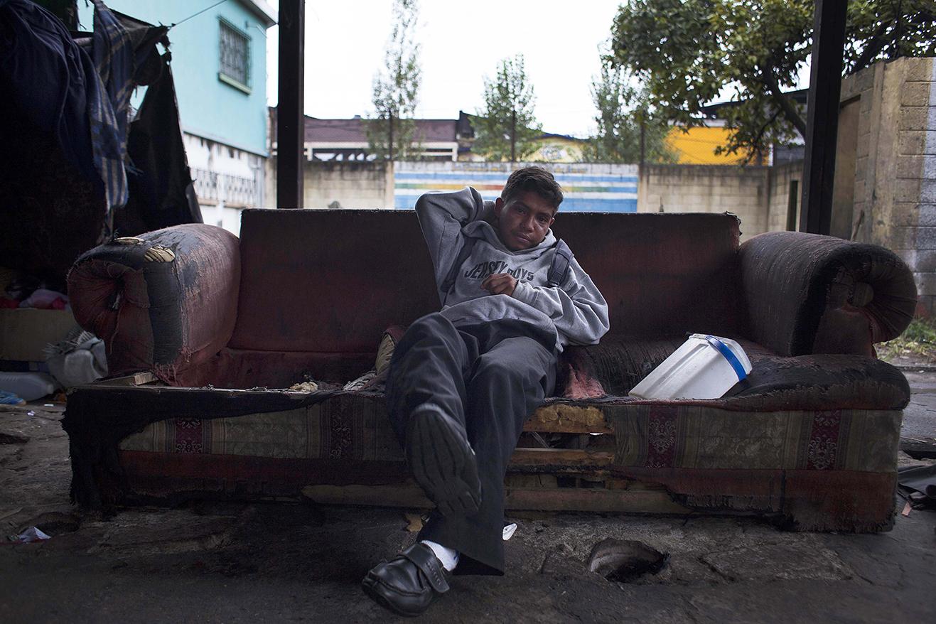 William, de 23 años, lleva 15 viviendo en la calle.
