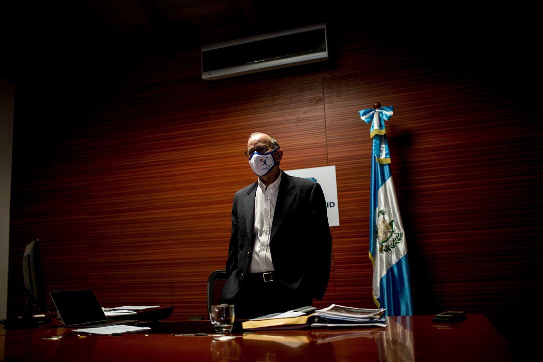 El presidente de la Coprecovid, Edwin Asturias, en una entrevista, el viernes 17 de julio. Simone D almasso