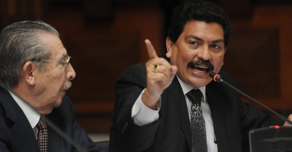 Francisco García Gudiel abogado defensor de Ríos Montt fue retirado del proceso.