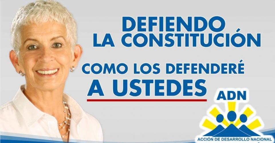 Campaña política de Adela Camacho de Torrebiarte.