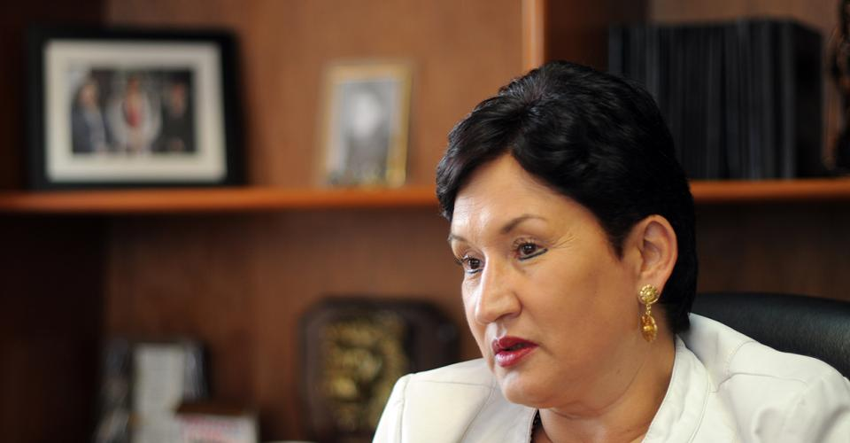 Thelma Esperanza Aldana Hernández, la mujer que según diversas fuentes es la favorita para ser elegida como nueva Fiscal General y jefa del Ministerio Público.