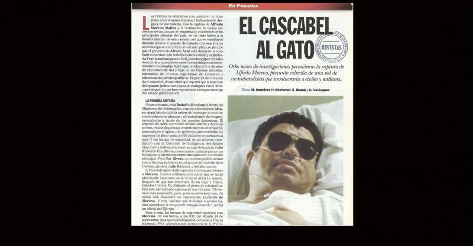 Alfredo Moreno fue internado en un hospital privado. Ocho meses de investigaciones permitieron la captura de quien fuera el presunto cabecilla de una red de contrabandistas que involucraba a civiles y militares.
