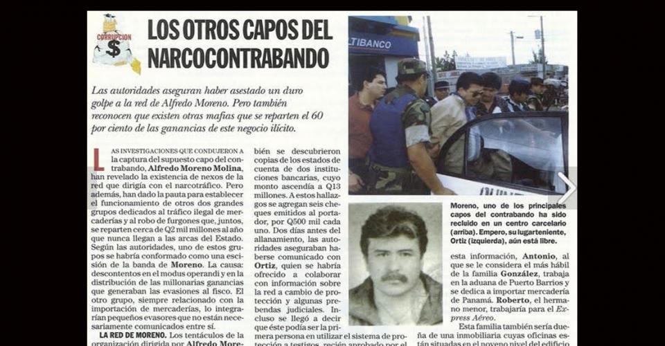 Alfredo Moreno fue detenido y recluido en un centro carcelario.