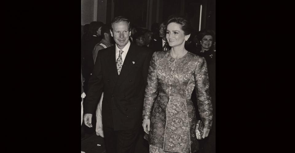 Arzú junto a su esposa cuando era presidente de Guatemala.