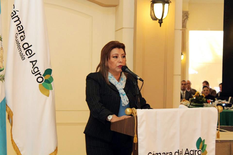 La Registradora de la Propiedad, Anabella de León, durante una reunión en la Cámara del Agro, acción pública que le sirvió para hablar de su posible candidatura a Fiscal General.