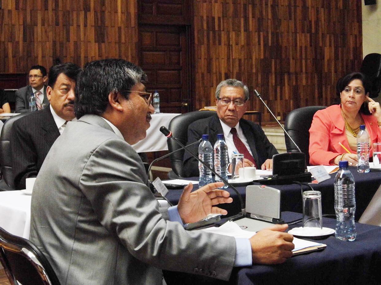 Luis Arturo Archila fue el primero del grupo de nueve candidatos que el pasado martes compareció ante la Comisión de Postulación.