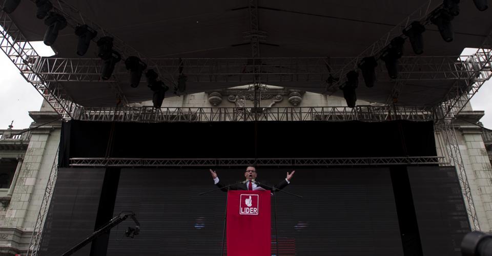 Manuel Baldizón, candidato de Lider a la presidencia, hizo pública su postulación y su proyecto por reformar el Estado.
