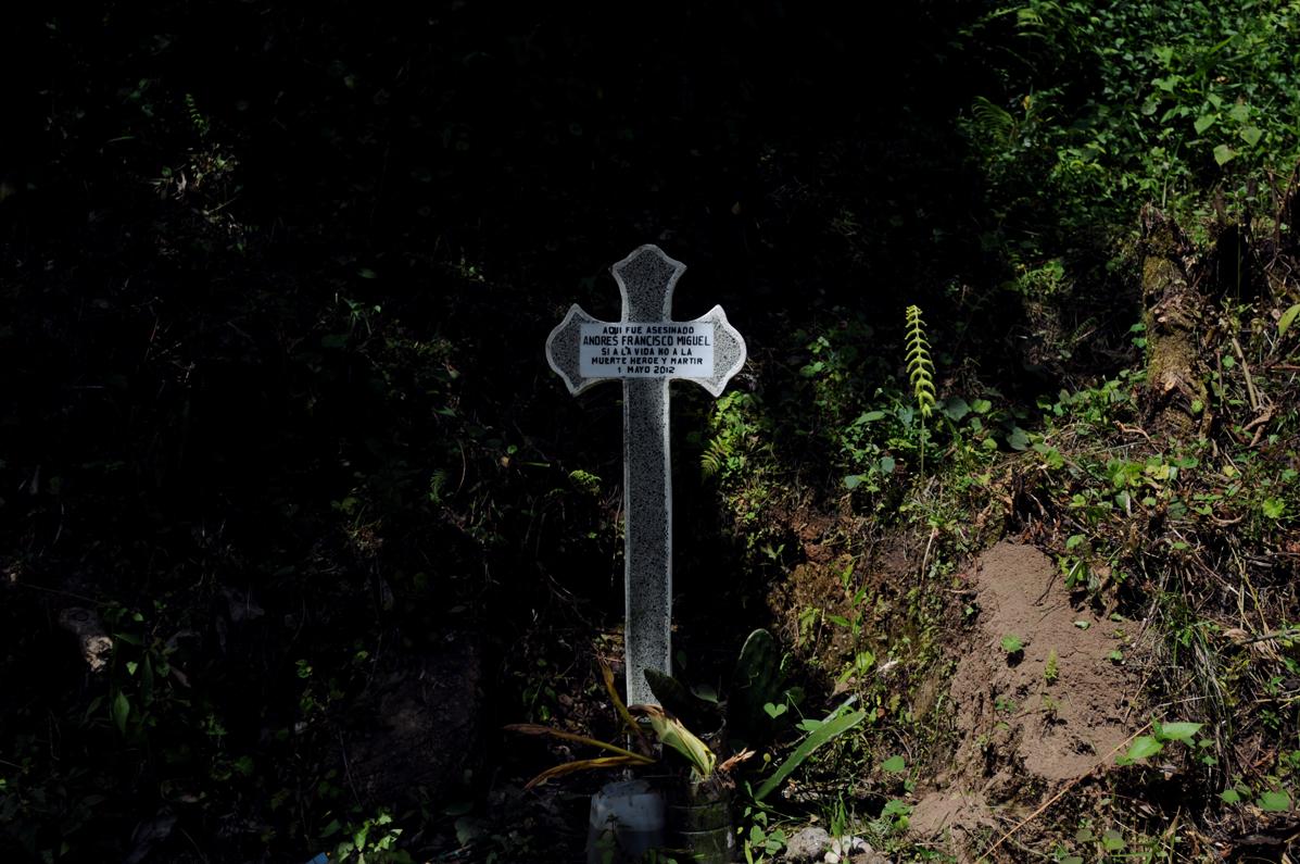 Andrés Francisco Miguel fue asesinado el 1 de mayo de 2012 por agentes de seguridad de la hidroeléctrica.