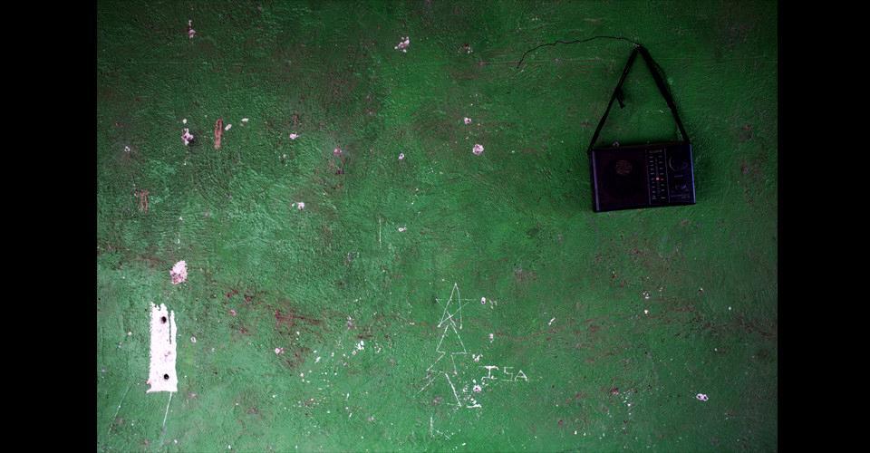 La pared de la casa de Floridalma Ramírez