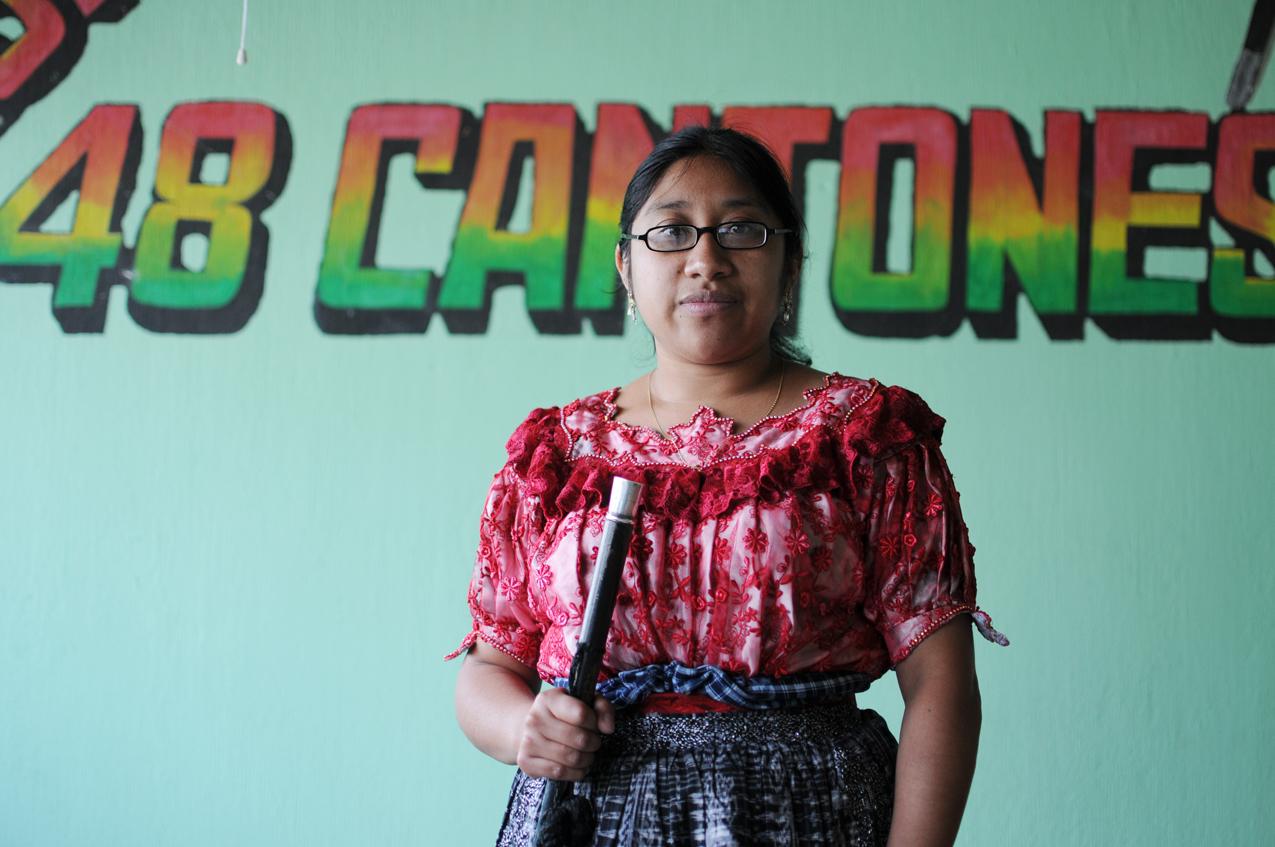 Carmen Tacám, de 27 años, lleva ya 9 meses a cargo de la presidencia de los 48 cantones de Totonicapán.