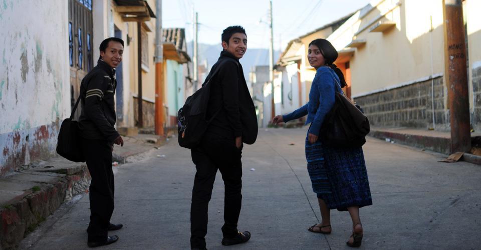 La juventud en Totonicapán.