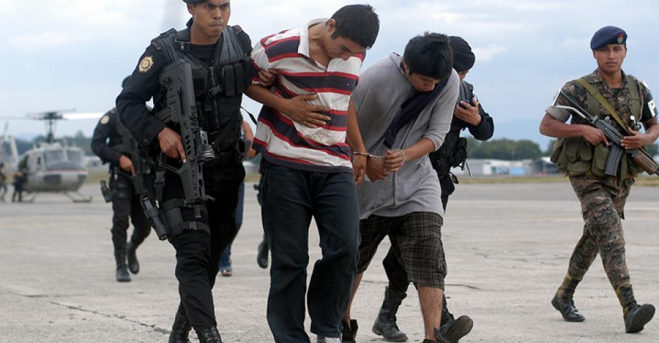 La Policía Nacional Civil capturó a sindicados de narcotráfico.