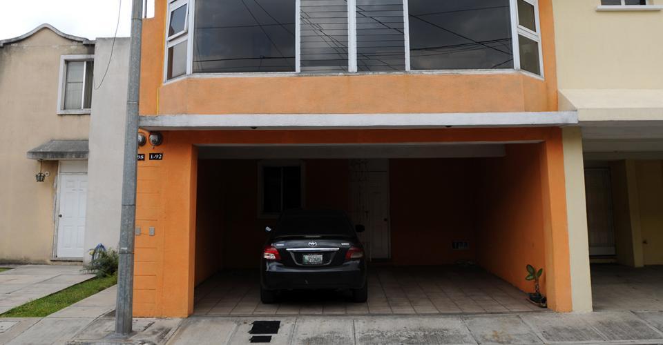El inmueble ubicado en la 2a. calle A, 1-92, Colina de Monte María Sur, Villa Nueva, estaba registrado como domicilio de Corpogold S.A.