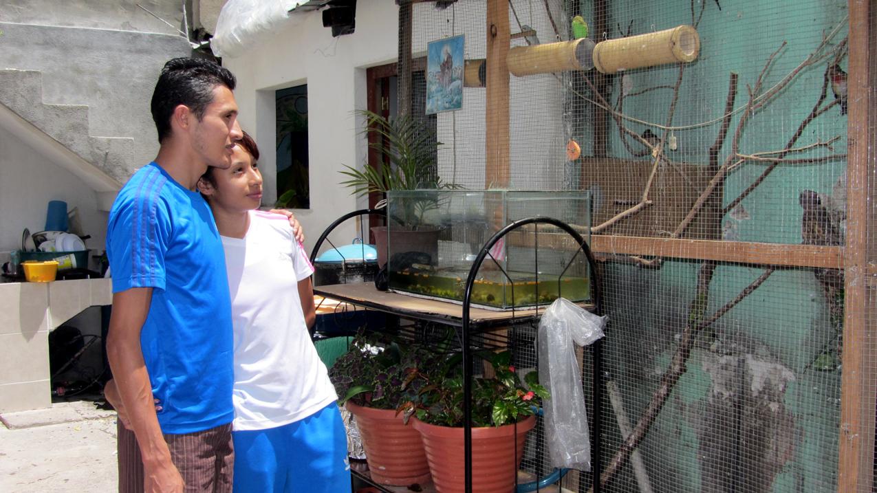 Los marchistas Quiyuch y Franco en su casa.