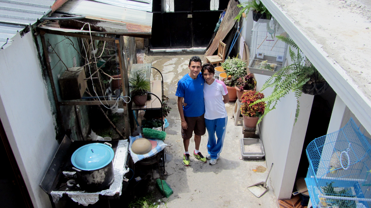 Los atletas Quiyuch y Franco en su casa.