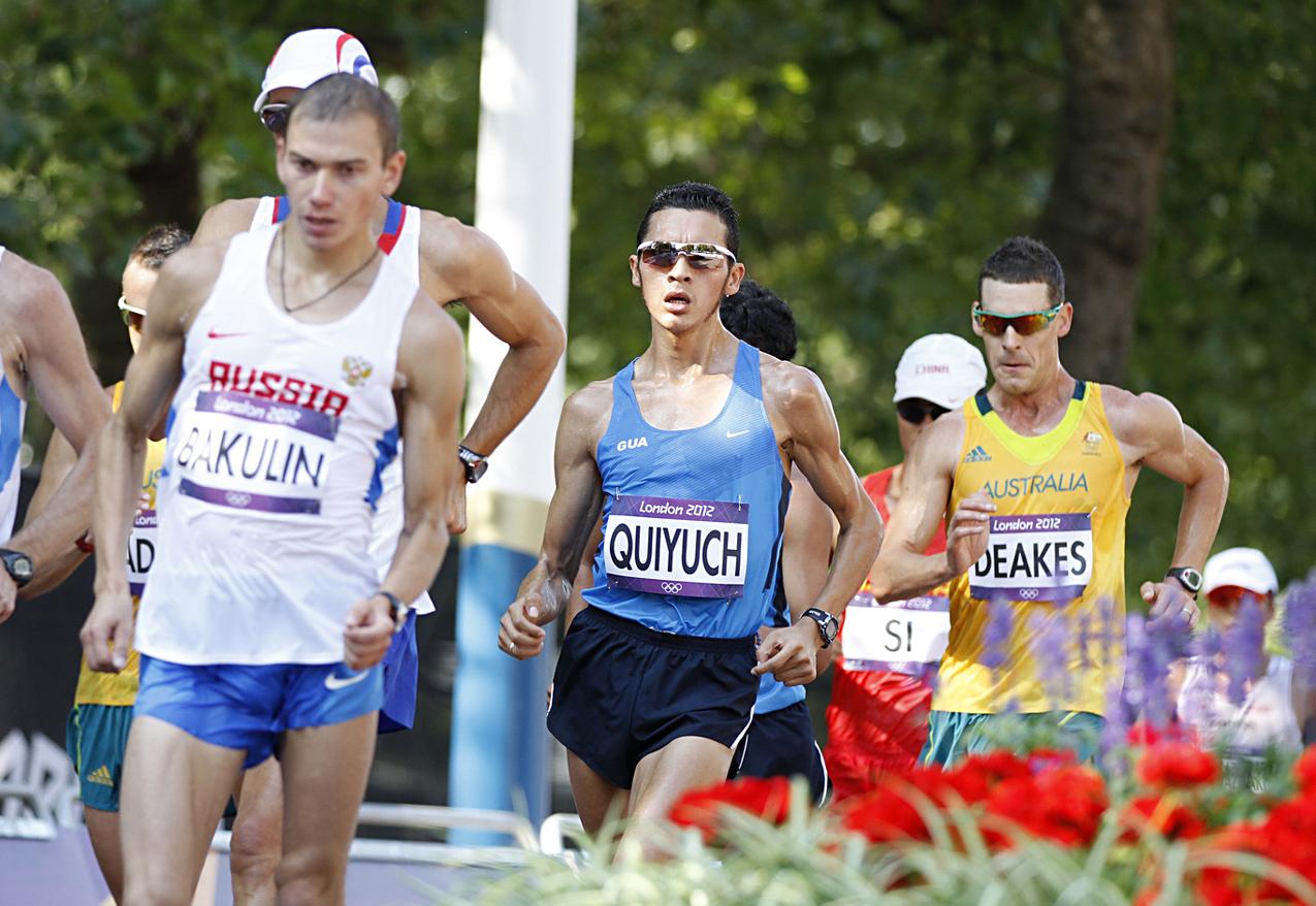 Quiyuch durante la prueba de marcha de 50 kilómetros.