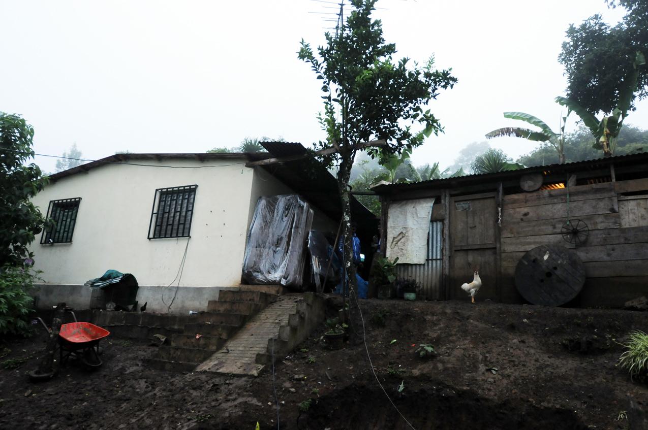 Casa de Erick Barrondo en aldea Chiyuc, San Cristobal, Alta Verápaz.
