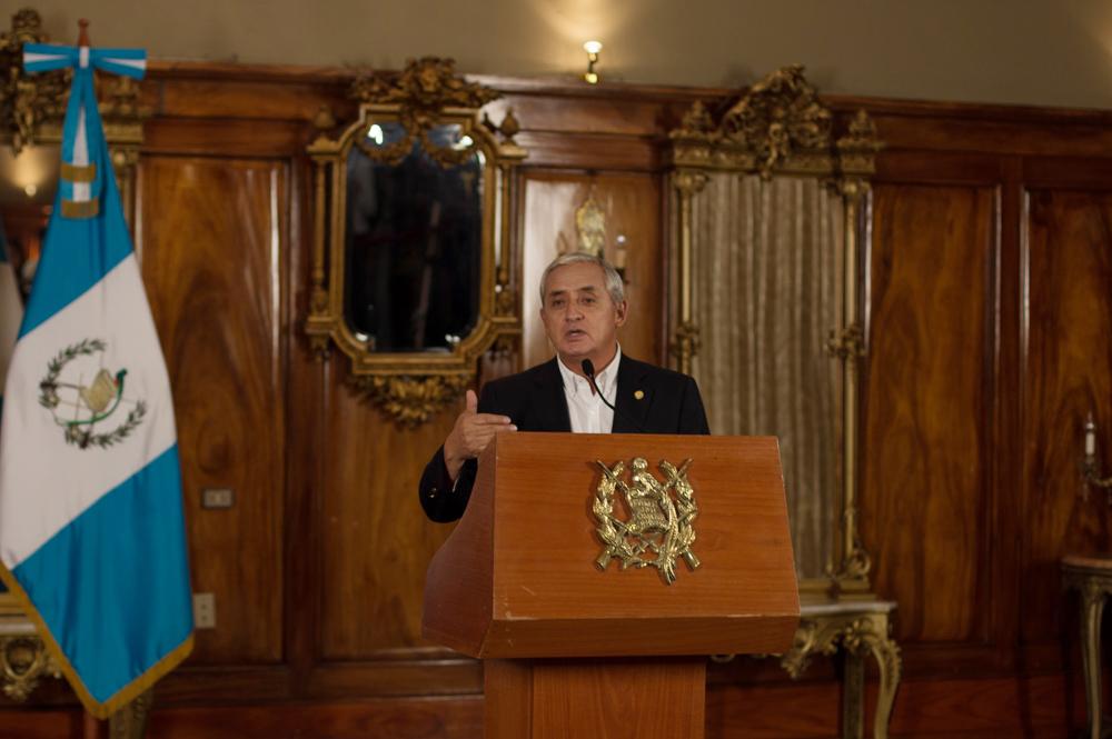 El presiente Otto Pérez Molina, dio a conocer, ayer viernes, la renuncia de la vicegobernante de Guatemala.