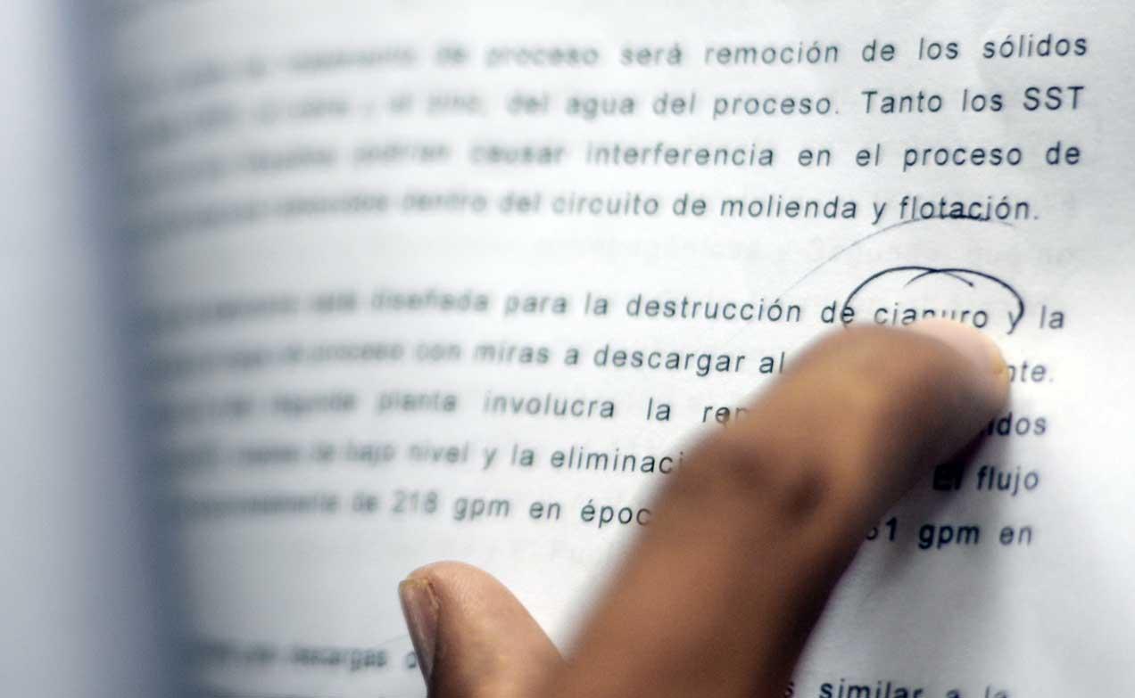 Imagen del informe de impacto ambiental.