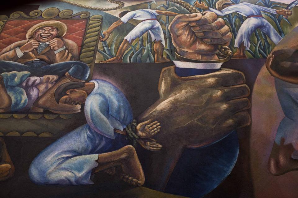 Detalle de un mural del Congreso de la República