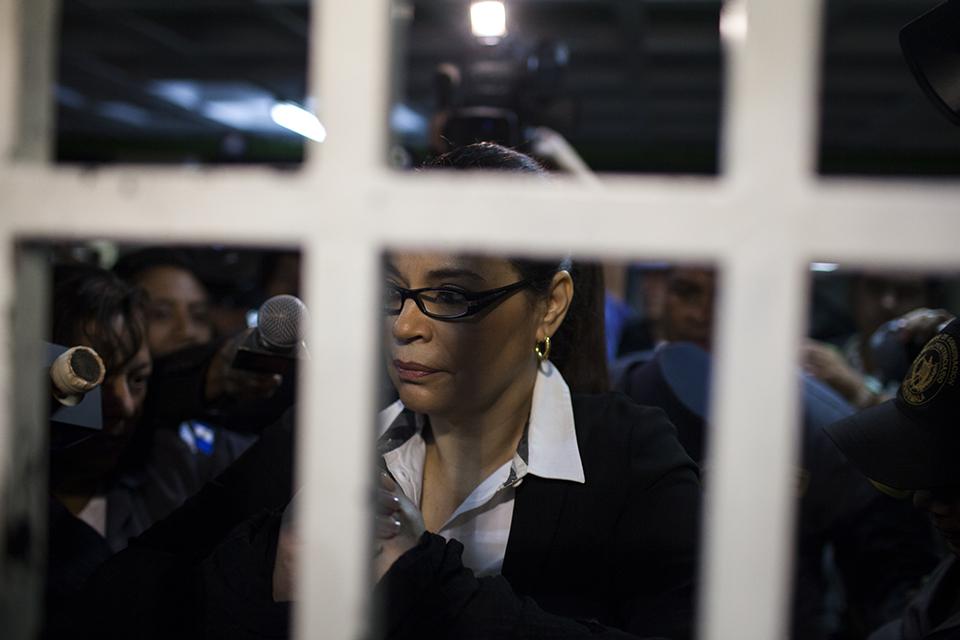 Roxana Baldetti, en una de las audiencias de primera declaración del caso Cooptación del Estado.