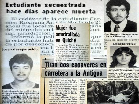 Muchas personas desaparecieron y otras aparecían asesinadas en la década de los ochenta.