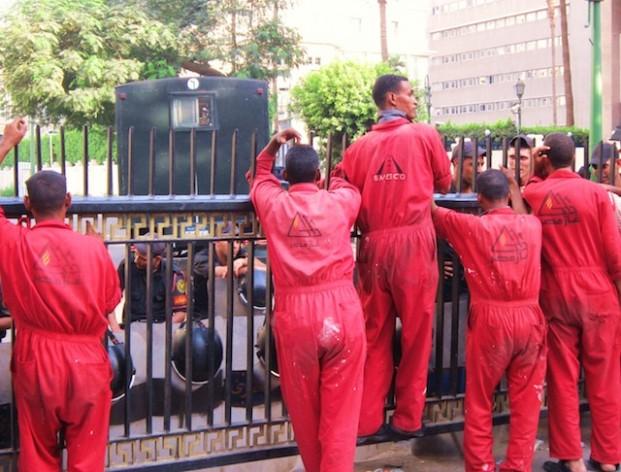 Los trabajadores de Egipto exigen el derecho a realizar protestas pacíficas.  Crédito: Cam McGrath/IPS