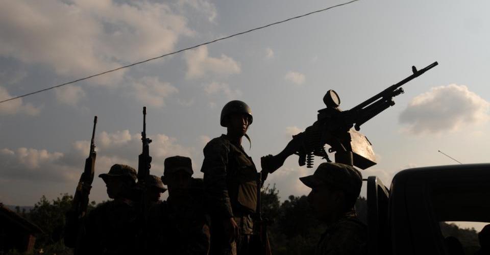 Contingentes militares durante el estado de sitio decretado por el Ejecutivo en 2012 y nunca ratificado por el Congreso