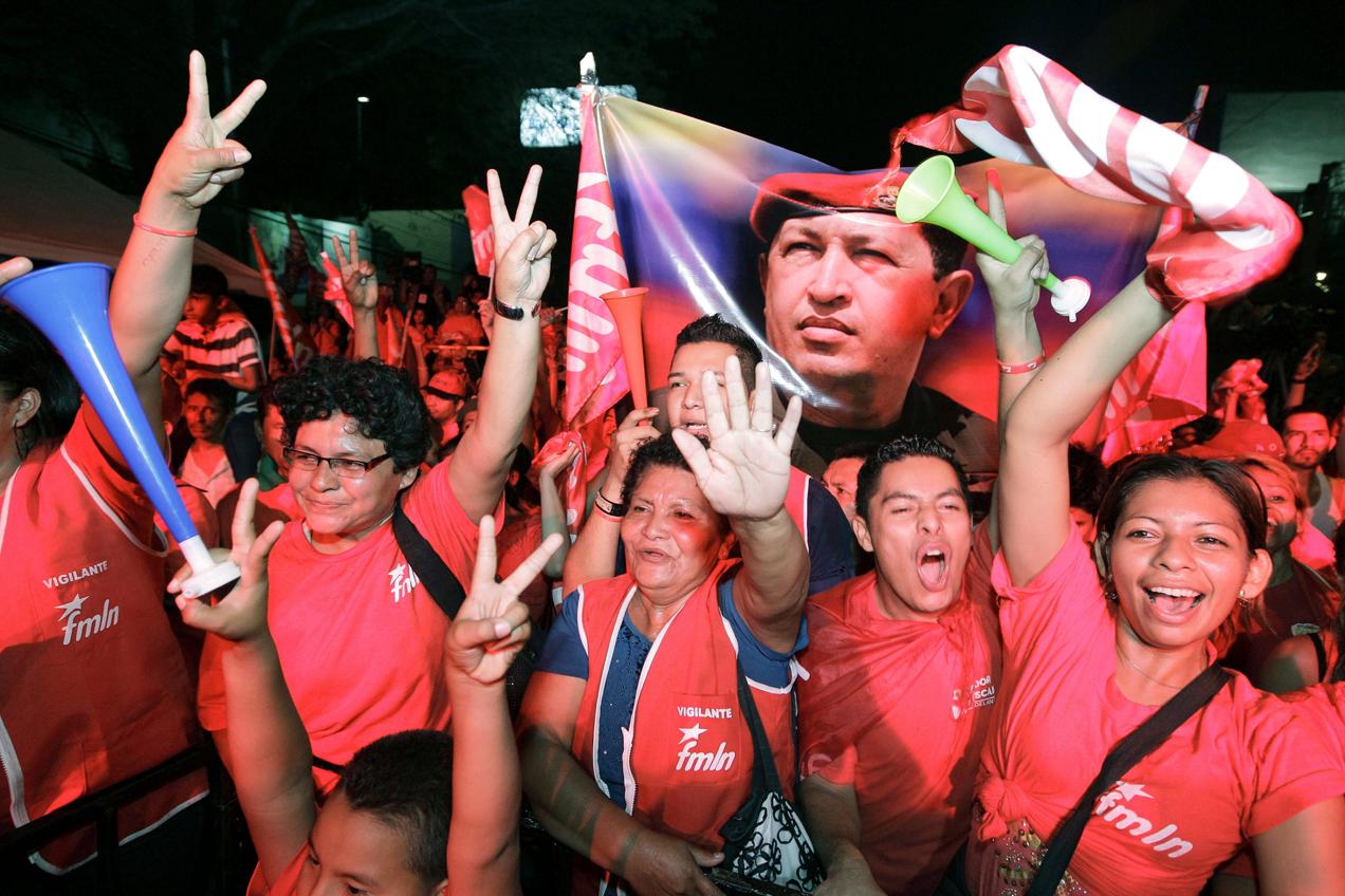 Los seguidores del FMLN exigen el respeto de los resultados.