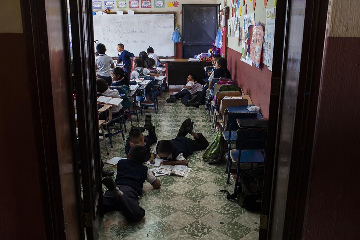 Estudiantes del primer grado de primaria.