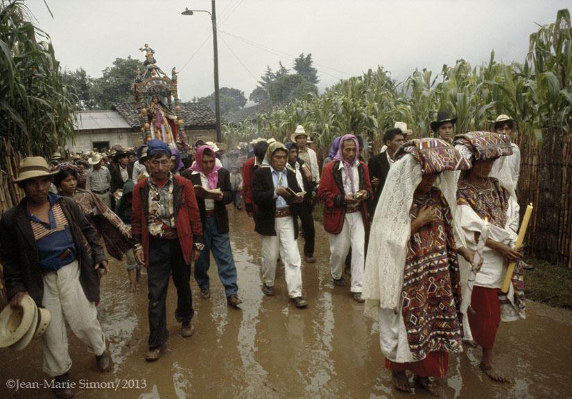 Fiesta religiosa en Nebaj, Quiché.