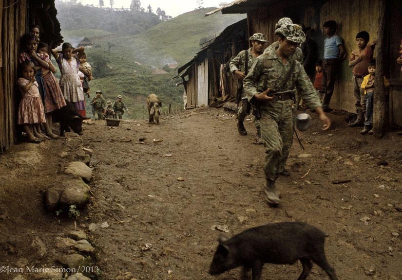 Ocupación militar en finca La Perla, Ixcán, Quiché.