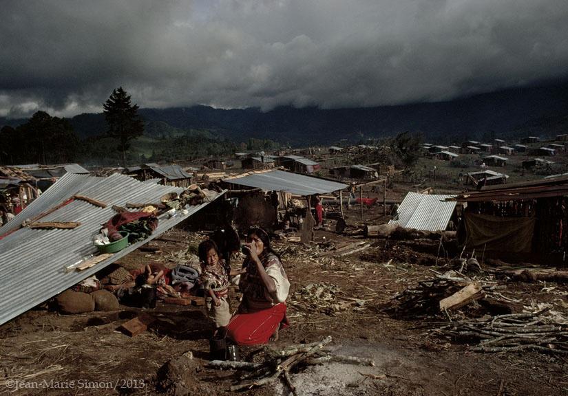 """Centro de detención denominado """"La Pista"""", y convertido en aldea modelo, en Nebaj, Quiché."""