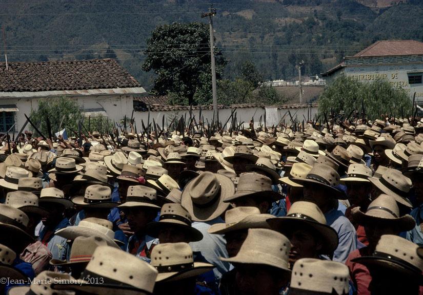 Concentración de Patruller os de Autofensa Civil en Nebaj, Quiché.
