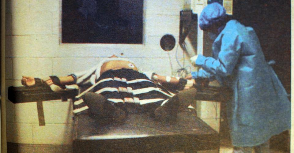 Luis Cetino recibió la inyección letal a las 16:13 del 30 de junio del 2000.