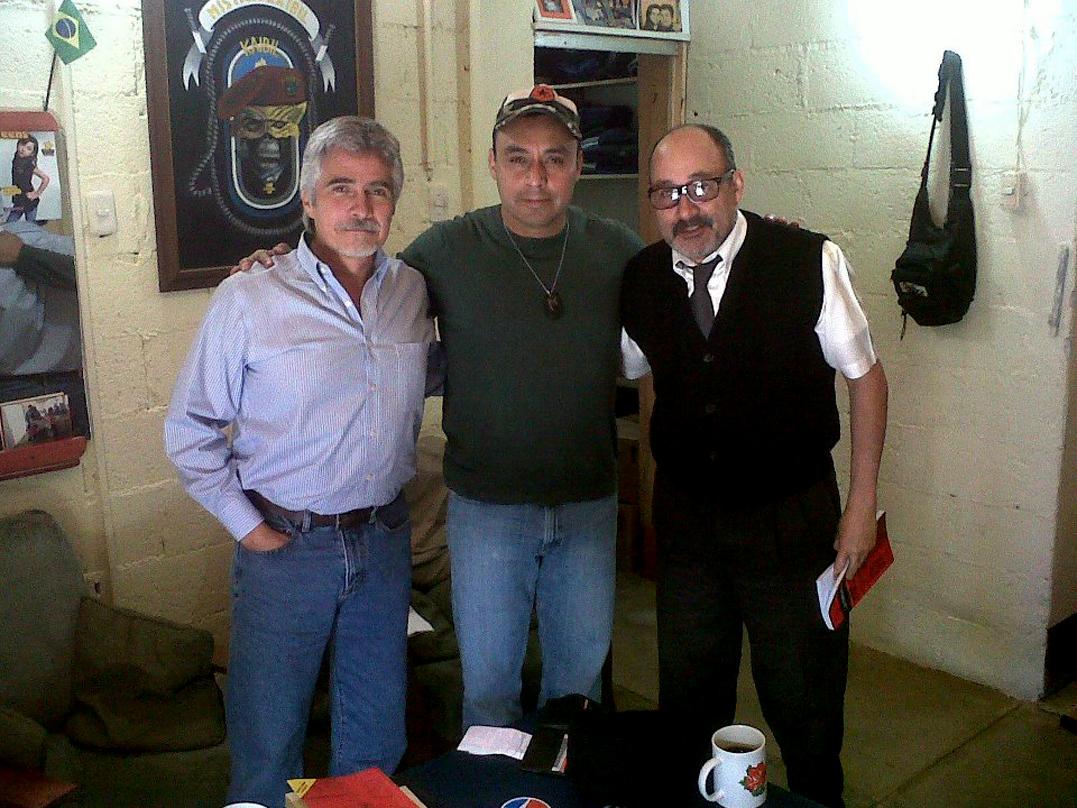 De izquierda a derecha: Ricardo Méndez Ruiz, Byron Lima y Moisés Galindo.