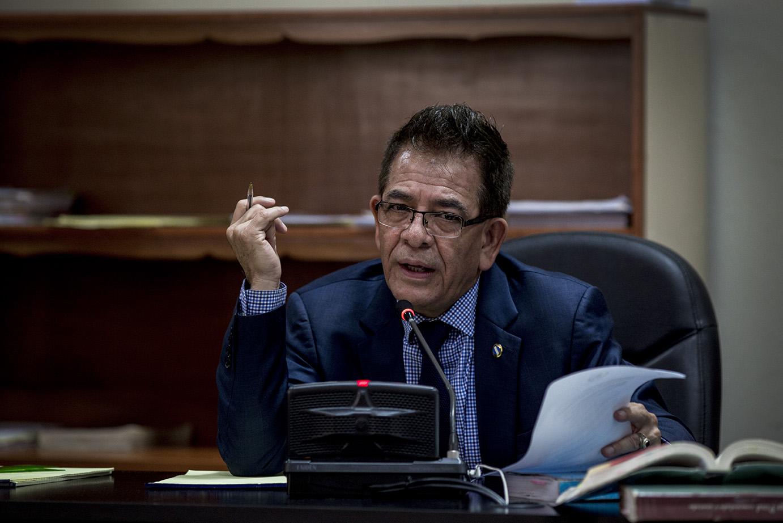 Miguel Ángel Gálvez, juez del caso, reenvía hasta mañana la primera sesión de primera declaración/Simone Dalmasso