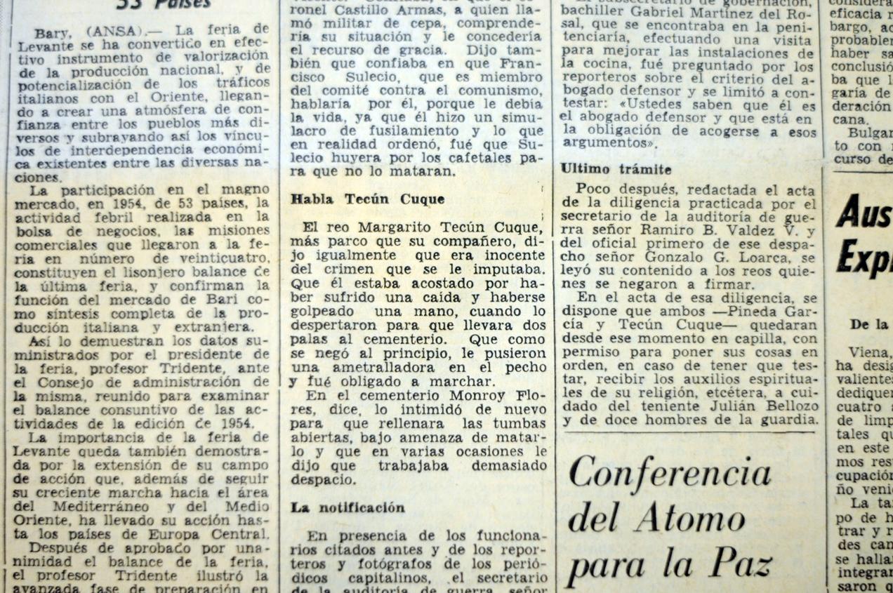 El reo Margarito Tecún Cuque se declaró inocente de genocidio.