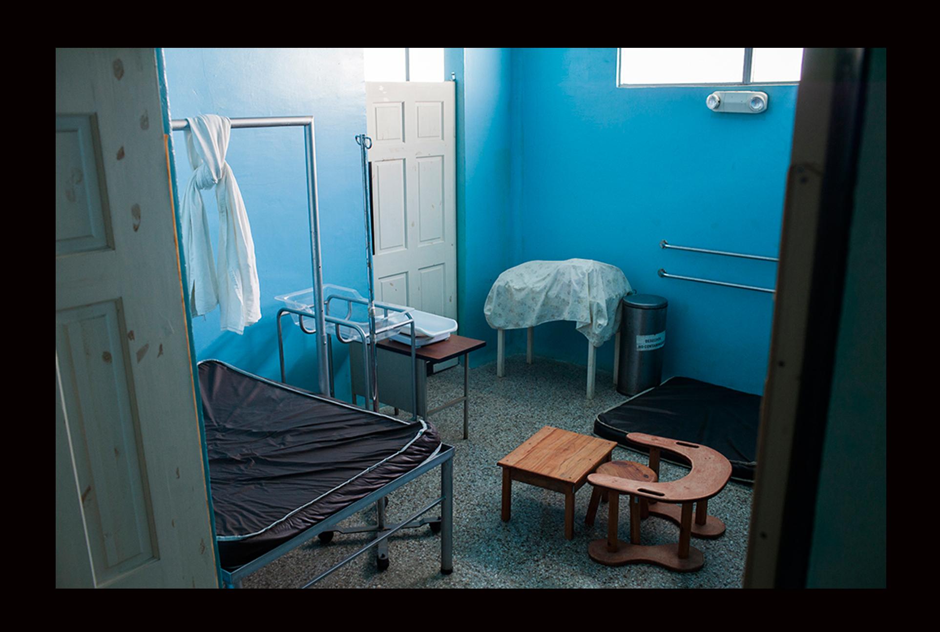 Cuarto de parto tradicional en el Puesto de Atención Permanente de Guineales. En este cuarto atienden parteras y comadronas.