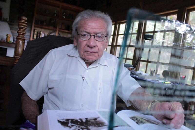 Carlos Guzmán Böckler en su casa, en 2012.