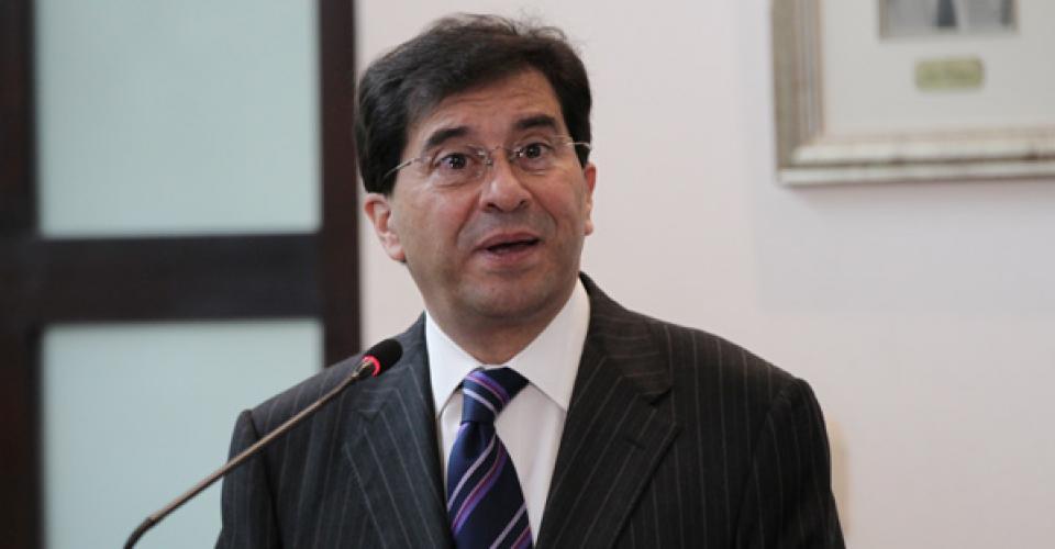 Caballeros, en marzo de 2012, durante una conferencia en la Cancillería.