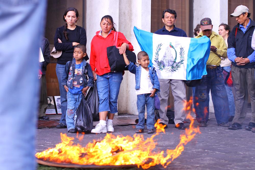 Los niños del área Ixil estaban entre las víctimas exterminadas durante el gobierno del general retirado Efraín Ríos Montt.