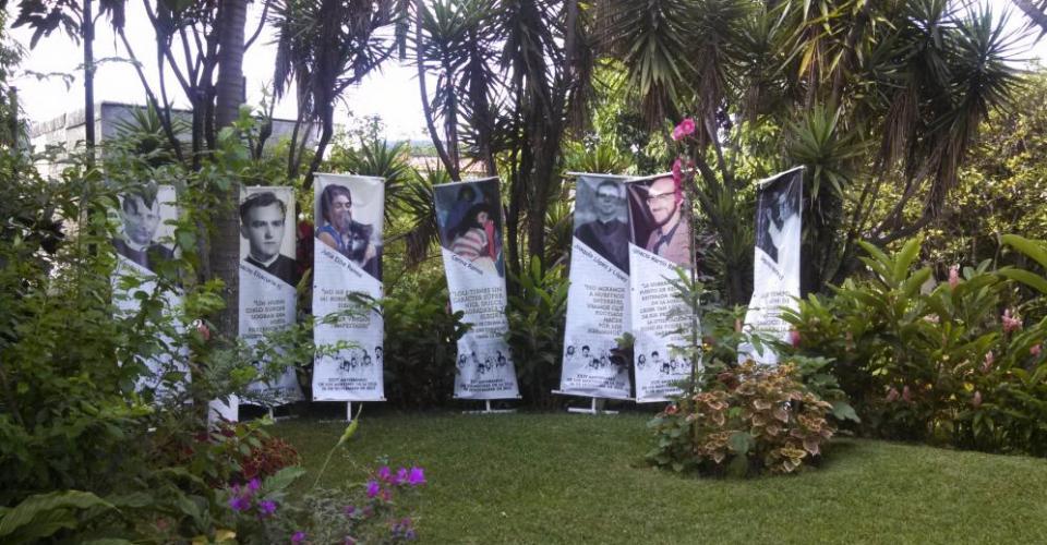 El jardín en donde los asesinaron
