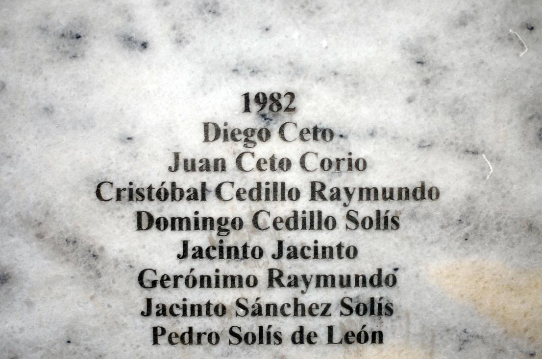 Los muertos de Acul, en 1982.