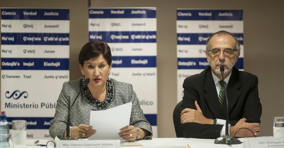 En conferencia de prensa el Ministerio Público y la CICIG dieron a conocer una red que cobraba por fallos judiciales liderada por el magistrado Erick Santiago de León.