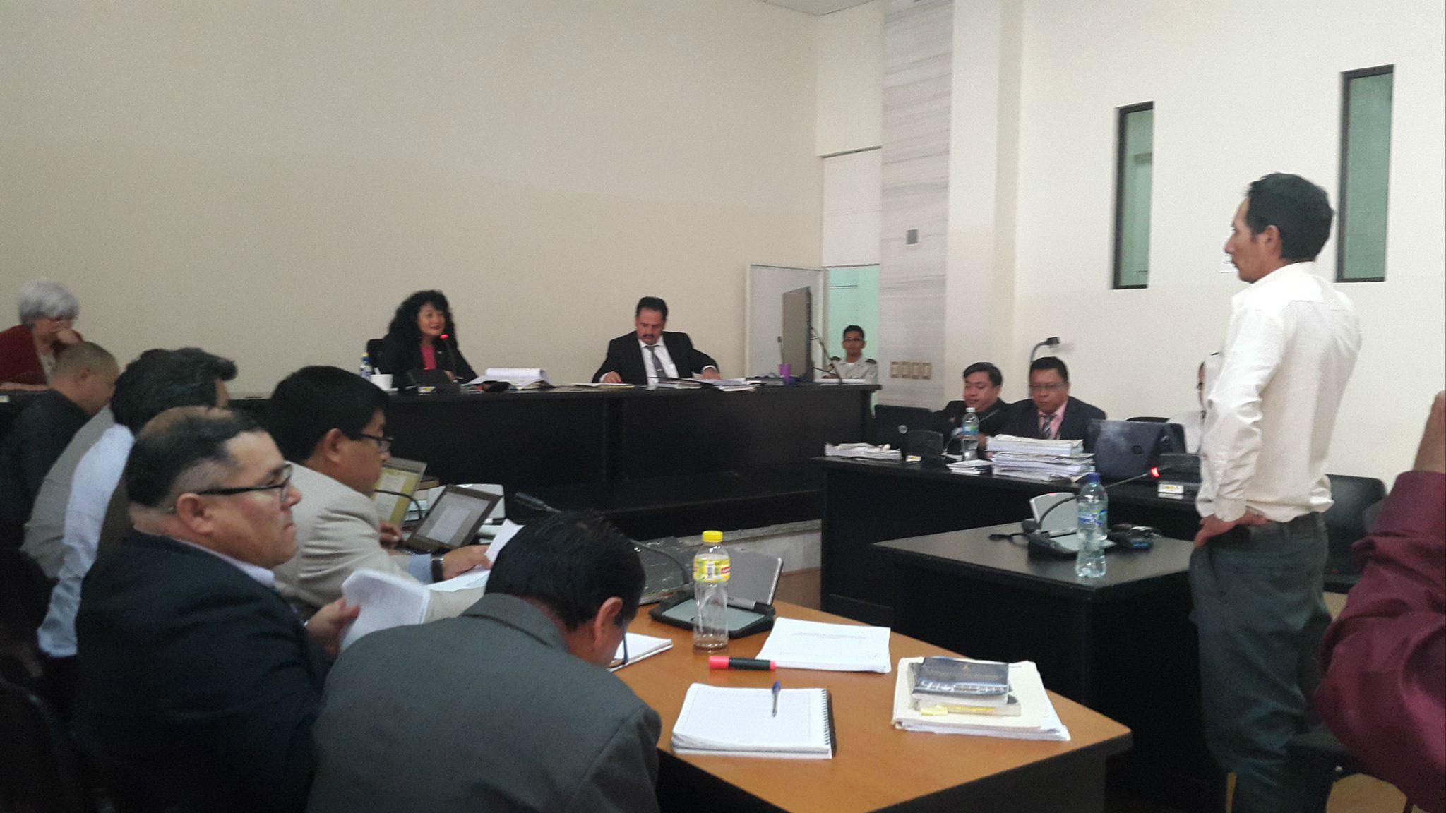 Diego Andrés, testigo propuesta por la defensa de Domingo Baltazar, declara ante el Tribunal.
