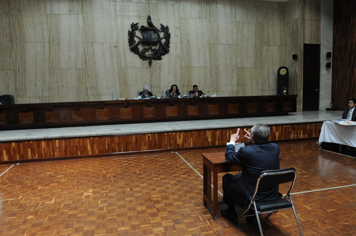 Efraín Ríos Montt se abstuvo a declarar.