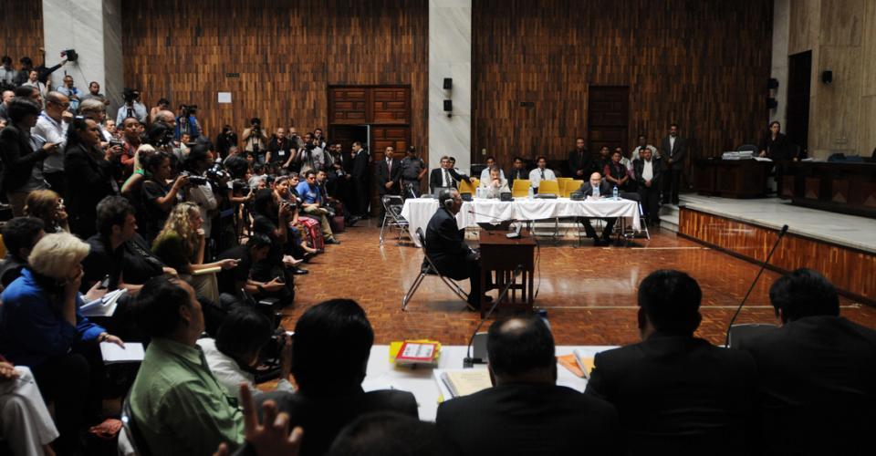 Ríos Montt se abstuvo a declarar.