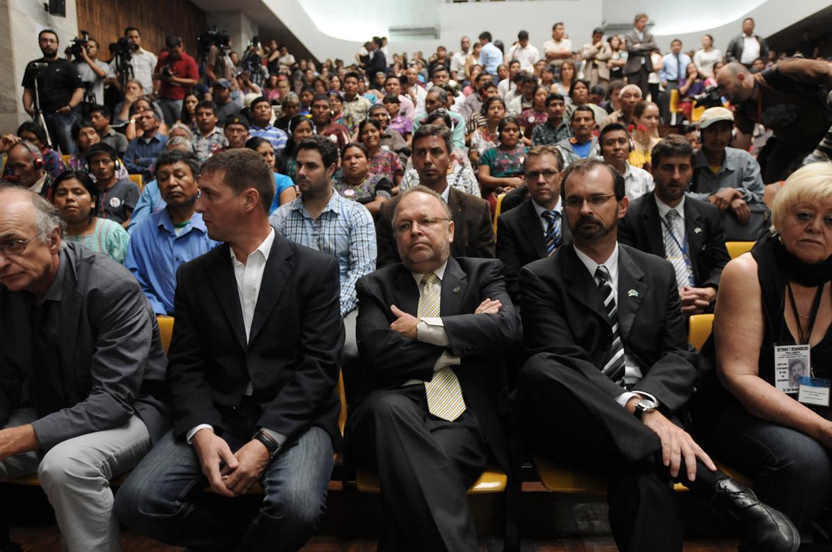 El presidente de la CICIG llegó a la audiencia.